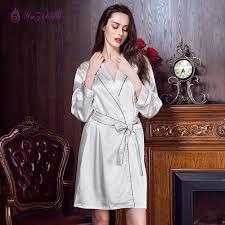 plus size silk robe 2018 yuzihua bathrobe plus size silk robe satin nightdress nightie