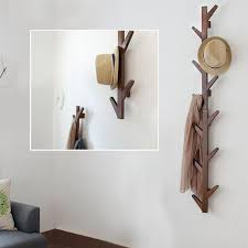 yazi vintage brown bamboo 6 branches tree style wall mounted hanging coat rack hanger scarf hat