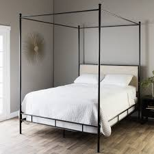 Shop The Curated Nomad Lauren Upholstered Queen Size Canopy Bed ...