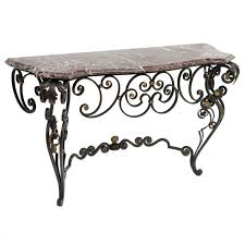iron console table. View This Item And Discover Similar Console Tables For Sale At - Highly Decorative Louis XV Style Patinated Gilt Wrought Iron Table The P