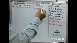 question 1 exercise 4 4 class 10 maths quadratic equations cbse ncert solution