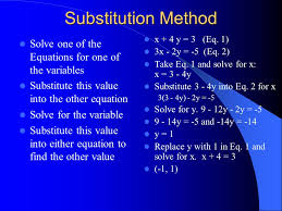 4 substitution method solve
