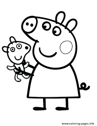 Peppa Pig Coloring Pages With Pig Coloring Pages As Cool Pretty Pig