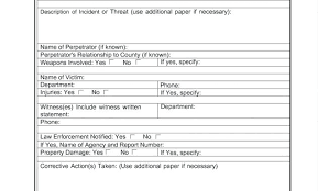 Accident Near Miss Report Form Template Awesome Incident