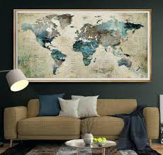metal map wall art uk