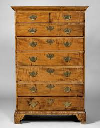 Antique Wooden Furniture | Tiger Maple Tall Chest