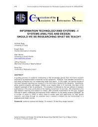 Basic Information Systems Analysis And Design Pdf Information Technology And Systems I Systems Analysis