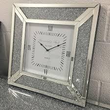 diamond glitz silver mirrored wall
