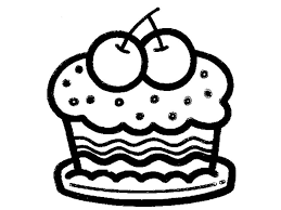 Cartoon Birthday Cake Outline Drawing A 350400 Attachment