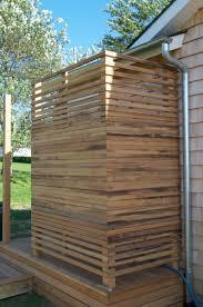 diy wood outdoor shower enclosure