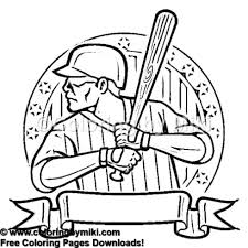 Sports Baseball Batter Coloring Page 1200 Coloring By Miki