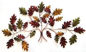 awesome metal leaf wall art autumn branch decor hanging canada sculpture mirror large