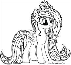 Pony Coloring Sheets My Little Pony Coloring Realistic Unicorn