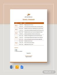 33 Travel Itinerary Templates Doc Pdf Apple Pages