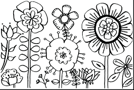 Printable Flower Coloring Pages Pdf Garden Coloring Page Daisy