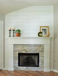 awesome design of the stacked stone fireplace with brown wooden storage leather seat ideas surprising front