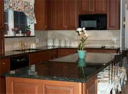 Backsplash With Uba Tuba Granite