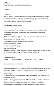 cashier experience 22 free cashier resume samples sample resumes