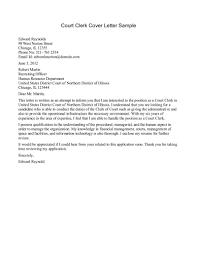 Court Clerk Cover Letter Resume Cover Letter