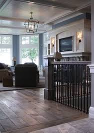 love the wood floor baseboards tile stairs modern wide plank wood flooring with great transition to tile