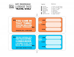 Printable Luggage Tags Diy Printable Luggage Tags Travel Wars Vintage Luggage