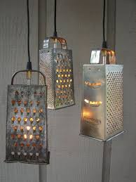 unique kitchen lighting fixtures. Who Knew Old Cheese Graters Could Make Such Unique Lighting Fixtures? Kitchen Fixtures