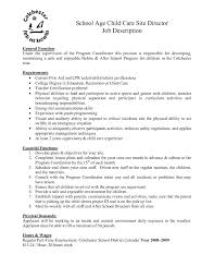 Awesome Collection Of Child Care Job Description Resume