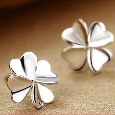 konkanok shopWomen's Cute Lucky <b>Clover Shape Earrings</b> 925 ...