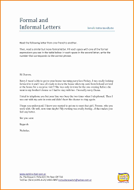 Formal Format 5 English Letter Format Formal And Informal Penn Working Papers