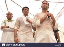 Indian national congress party members, rahul gandhi, ashok gehlot and  sachin pilot, india, asia