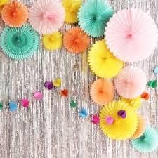 Tissue Paper Flower Decor Tissue Paper Flower Hanging Fan Wedding Birthday Garland Party Decor