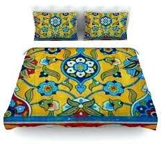 blue and yellow duvet cover eema perian blue and yellow toile duvet covers