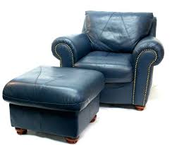 blue leather chair. Awesome Navy Blue Chair And Ottoman Leather Armchair Within Design Reclining Chairs Idea Dark O