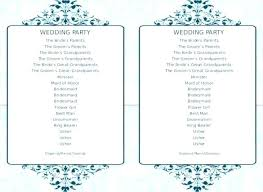 Wedding Program Templates Free Word Wedding Program Template Free Wedding Program Template Word Free