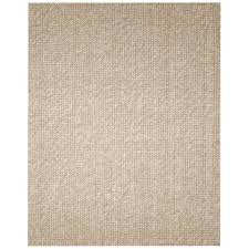 Zatar Beige and Tan 8 ft. x 10 ft. Wool and