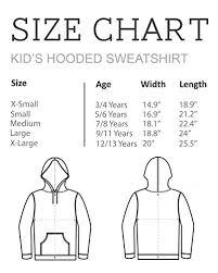 Montage Size Chart Cloud City 7 La Casa De Papel Montage Kids Hooded