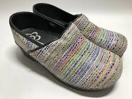 Sanita Shoe Size Chart Sanita The Original Danish Clogs Womens Size 40 Striped