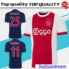 2018 new ajax home red white rugby jersey 17 18 ajax away blue rugby shirt 2018 customized 10 klaassen 34 nouri uniform s from jiashuaidream
