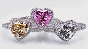 Модные свадебные кольца с кристаллами в форме сердца ...