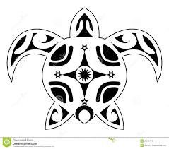 татуировка черепахи племенной полинезиец иллюстрация штока