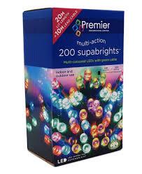 Supabright Led Lights Meterial Premier Multi Coloured 200 Led Christmas Lights