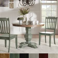 Shop Eleanor Oak And Antique Sage Green Wood 3 Piece Round Table And