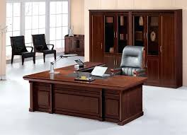 office table design. Wooden Office Tables Design Rectangle Shape Brown Storage Cabinets Wall Mount Shelves Table O