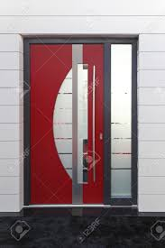 modern office door. Red Door With Glass Modern Office Entrance Stock Photo - 22002726