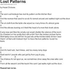 Pattern Song New Bluegrass Songs With Chords Lost Patterns