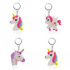 <b>1PCS PVC Key Chain Cartoon</b> Unicorn Mini Anime Figure Key Ring ...