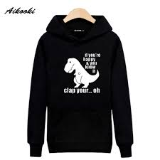 Black Hoodie With Design Us 14 3 47 Off Funny Dinosaur Design Black Hoodies Sweatshirt Men Brand Designer Gray Hooded Young People Outwear Cute Slim Pullovers Xxs Xxxxl In