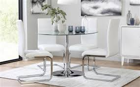 Round glass tables and chairs White Glass Dining Table Chairs Sets Furniture Choice For Round Tables Plan The Tasting Room Glass Dining Table Chairs Sets Furniture Choice For Round Tables