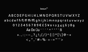 Bosun Free Font 商用利用可お洒落でセンスある英語フリー