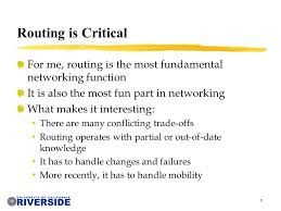 cs network routing michalis faloutsos class overview  8 8